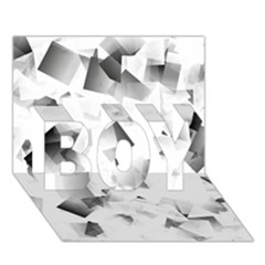 Gray And Silver Cubes Abstract Boy 3d Greeting Card (7x5) by timelessartoncanvas