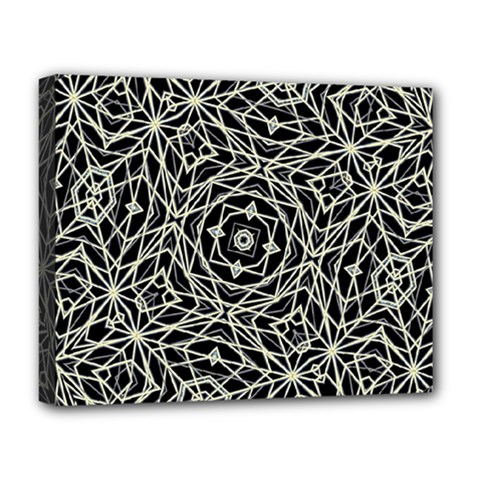 Polygons Pattern Print Deluxe Canvas 20  X 16   by dflcprints