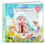 Jayden-baby blue-v - 8x8 Deluxe Photo Book (20 pages)