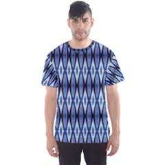 Blue White Diamond Pattern  Men s Sport Mesh Tee by Costasonlineshop