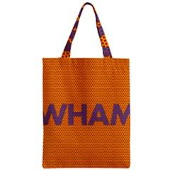 Comic Book Wham Dots Zipper Classic Tote Bag by ComicBookPOP