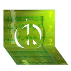 Technology Peace Sign 3d Greeting Card (7x5)  by ScienceGeek
