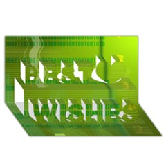 Technology Best Wish 3d Greeting Card (8x4)  by ScienceGeek