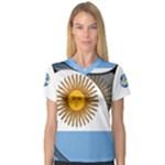 Argentina Women s V-Neck Sport Mesh Tee