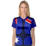 Australia Women s V-Neck Sport Mesh Tee