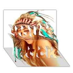 Indian 27 You Rock 3d Greeting Card (7x5)  by indianwarrior