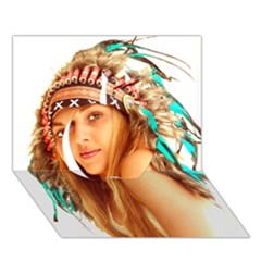 Indian 27 Apple 3d Greeting Card (7x5)  by indianwarrior
