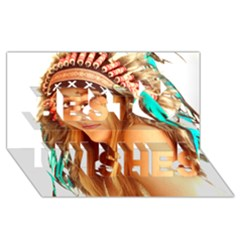 Indian 27 Best Wish 3d Greeting Card (8x4)  by indianwarrior