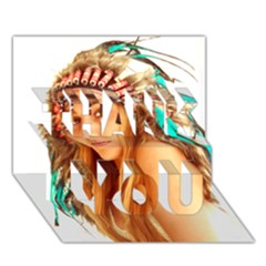 Indian 27 Thank You 3d Greeting Card (7x5)  by indianwarrior