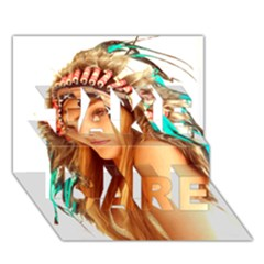 Indian 27 Take Care 3d Greeting Card (7x5)  by indianwarrior