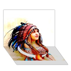 Indian 22 Circle Bottom 3d Greeting Card (7x5)  by indianwarrior