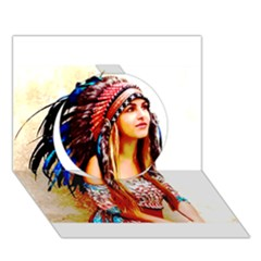Indian 22 Circle 3d Greeting Card (7x5)  by indianwarrior