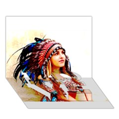 Indian 22 Love Bottom 3d Greeting Card (7x5)  by indianwarrior