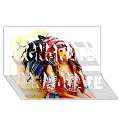 Indian 22 Congrats Graduate 3d Greeting Card (8x4)  by indianwarrior