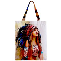 Indian 22 Zipper Classic Tote Bag by indianwarrior