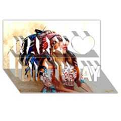 Indian 21 Happy Birthday 3d Greeting Card (8x4)  by indianwarrior