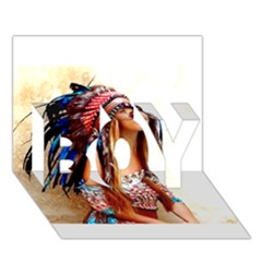 Indian 21 Boy 3d Greeting Card (7x5) by indianwarrior