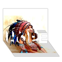 Indian 21 HOPE 3D Greeting Card (7x5)  by indianwarrior