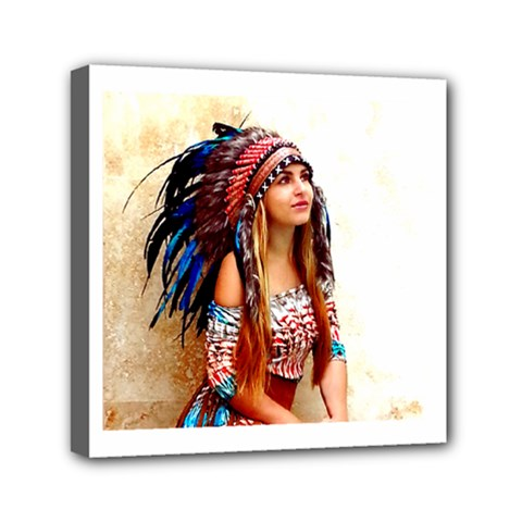 Indian 21 Mini Canvas 6  X 6  by indianwarrior