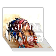 Indian 21 You Are Invited 3d Greeting Card (7x5)  by indianwarrior