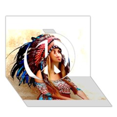 Indian 21 Peace Sign 3d Greeting Card (7x5)  by indianwarrior