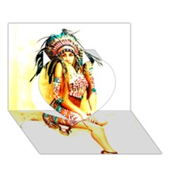 Indian 16 Heart 3d Greeting Card (7x5)  by indianwarrior