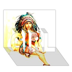 Indian 16 Girl 3d Greeting Card (7x5)  by indianwarrior