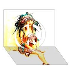 Indian 16 Peace Sign 3d Greeting Card (7x5)  by indianwarrior