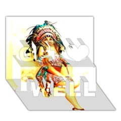 Indian 16 Get Well 3d Greeting Card (7x5)  by indianwarrior