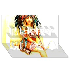 Indian 16 Merry Xmas 3d Greeting Card (8x4)  by indianwarrior
