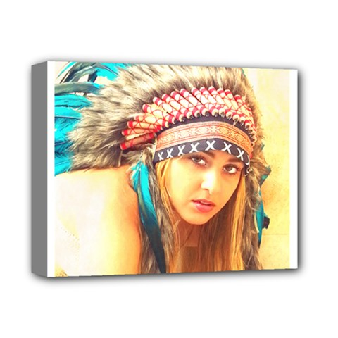Indian 14 Deluxe Canvas 14  X 11  by indianwarrior