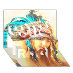 Indian 14 You Rock 3d Greeting Card (7x5)  by indianwarrior