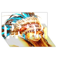 Indian 12 Mom 3d Greeting Card (8x4)  by indianwarrior