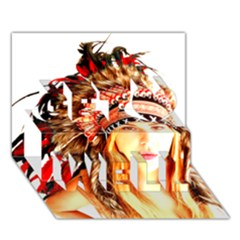 Indian 3 Get Well 3d Greeting Card (7x5)  by indianwarrior