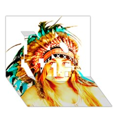 Indian 29 Love 3d Greeting Card (7x5)  by indianwarrior