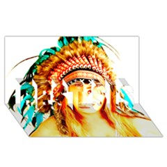 Indian 29 Best Sis 3d Greeting Card (8x4)  by indianwarrior