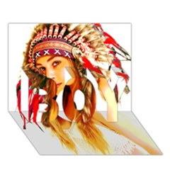 Indian 26 Boy 3d Greeting Card (7x5) by indianwarrior