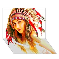 Indian 26 Heart Bottom 3d Greeting Card (7x5)  by indianwarrior