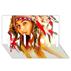 Indian 26 #1 Mom 3d Greeting Cards (8x4)  by indianwarrior