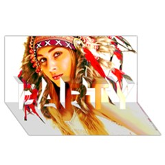 Indian 26 Party 3d Greeting Card (8x4)  by indianwarrior