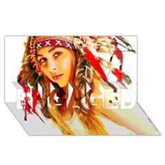 Indian 26 Engaged 3d Greeting Card (8x4)  by indianwarrior