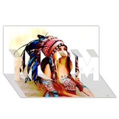 Indian 22 Mom 3d Greeting Card (8x4)  by indianwarrior