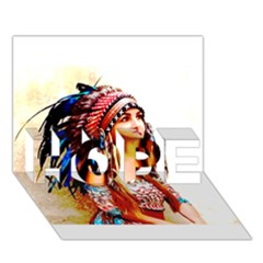 Indian 22 Hope 3d Greeting Card (7x5)  by indianwarrior