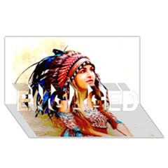 Indian 22 Engaged 3d Greeting Card (8x4)  by indianwarrior