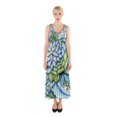 Peaceful Flower Garden Full Print Maxi Dress by Zandiepants