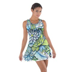 Peaceful Flower Garden Racerback Dresses by Zandiepants