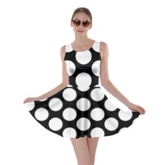 Black And White Polkadot Skater Dress by Zandiepants