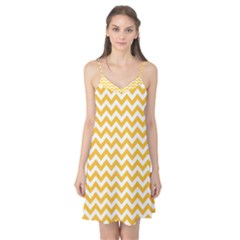 Sunny Yellow And White Zigzag Pattern Camis Nightgown by Zandiepants