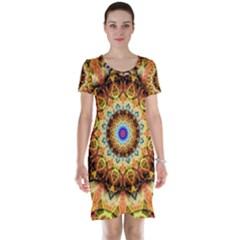 Ochre Burnt Glass Short Sleeve Nightdress by Zandiepants