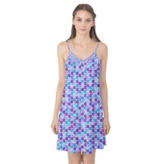 Purple Blue Cubes Camis Nightgown by Zandiepants